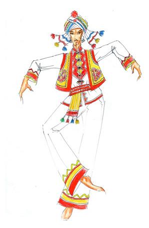 彝族舞蹈服装定制民族服饰设计订做