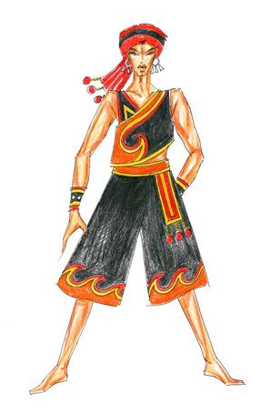 彝族演出服定制民族服装设计服饰订做