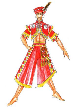 彝族演出服装定制民族服装设计服饰订做