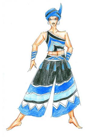 彝族舞蹈演出服装定制民族舞蹈演出服装定做