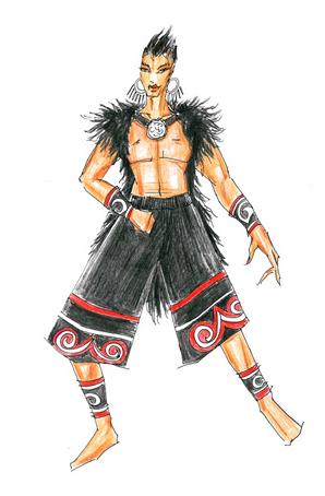 彝族舞蹈表演服装少数民族服饰订做