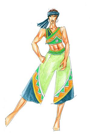 彝族舞蹈演出服装设计民族演出服装订做