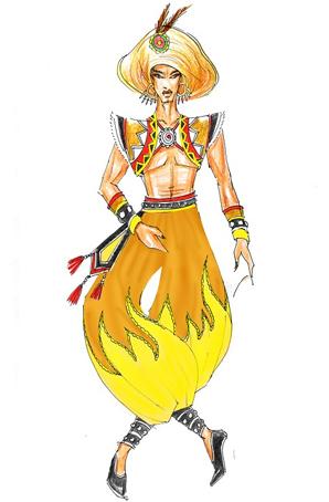 彝族舞蹈服装原创设计民族风服装制作