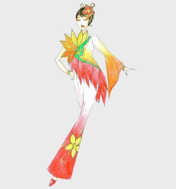 古典舞蹈服装设计舞台演出服装定制