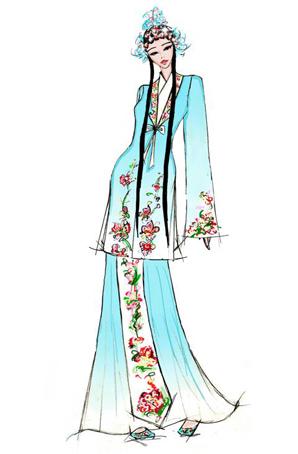 古典舞蹈服装设计女舞台演出服装过把瘾古典舞蹈服装设计