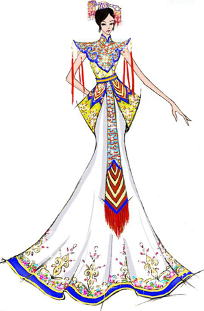 舞蹈舞台演出服装定制女民族风服设计定做国粹生香