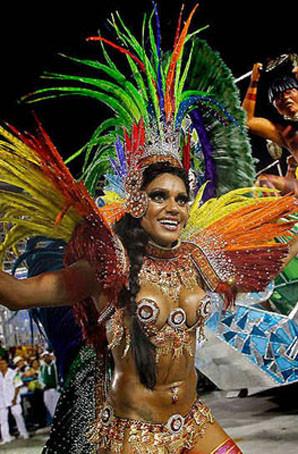 定制巴西桑巴舞服羽毛服装设计狂欢节羽毛背板