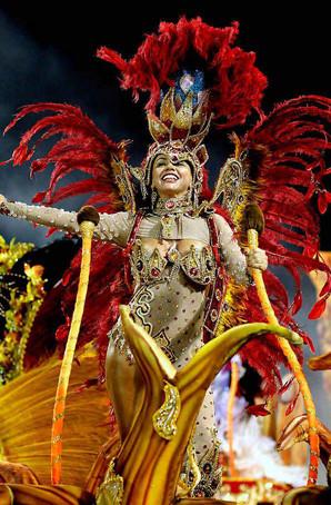 定制桑巴舞演出服狂欢节演出服定制巴西桑巴舞羽毛服饰