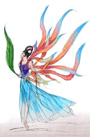 《瑶池仙女》神话版景区主题演出服装设计景观主题表演服装定制