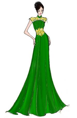 舞台礼服舞台服装长裙演出服装定制款礼服