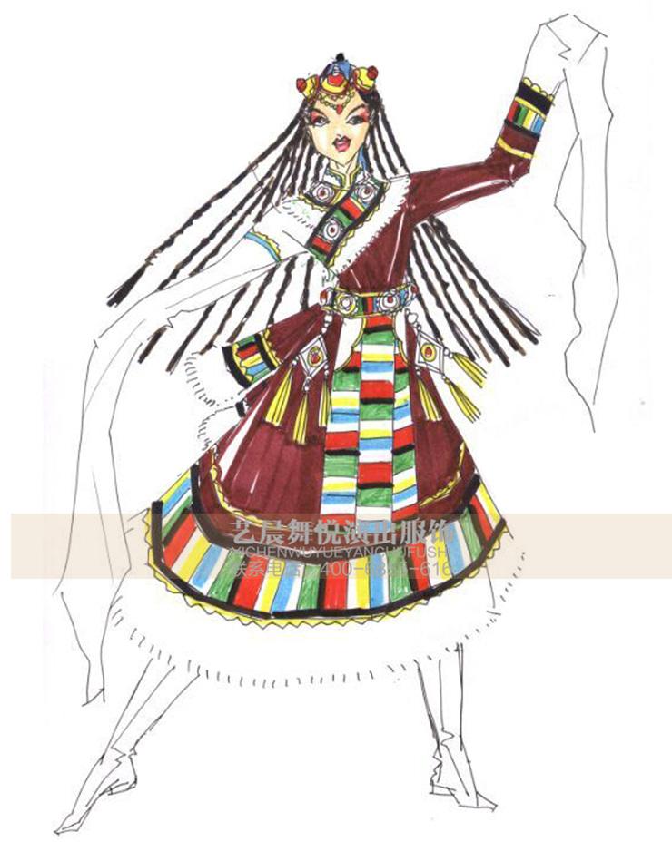 藏族舞蹈服饰 演出服装