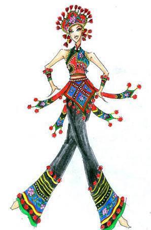 艺晨舞悦民族舞蹈服装设计女演出服装定做其它民族服装