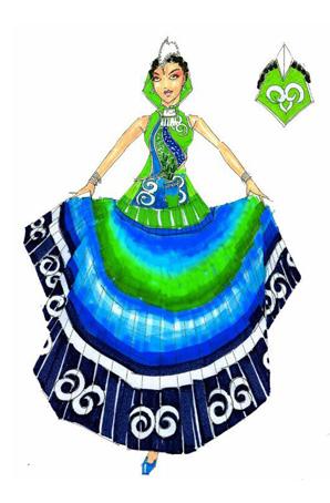 艺晨舞悦彝族舞蹈服装设计民族服装定制彝族设计稿