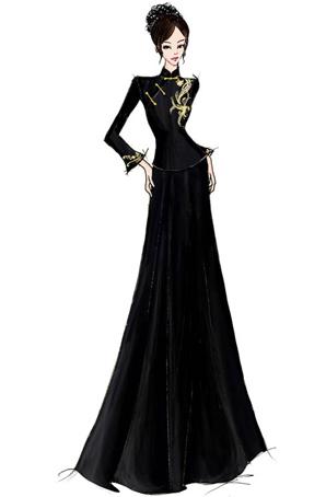 舞蹈舞台服装设计合唱演出服定制女士合唱服设计