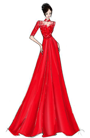 合唱演出服长裙定制女舞台表演服女士合唱服设计
