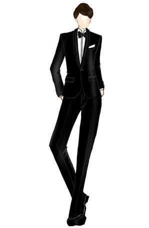 定做男士合唱服套装西装设计定制男士合唱服