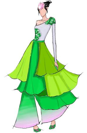 古典舞蹈服装设计女舞台演出服装古典舞蹈服装设计