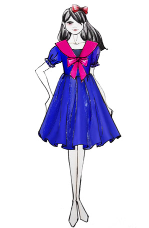 女生合唱表演服装设计合唱连衣裙儿童合唱服