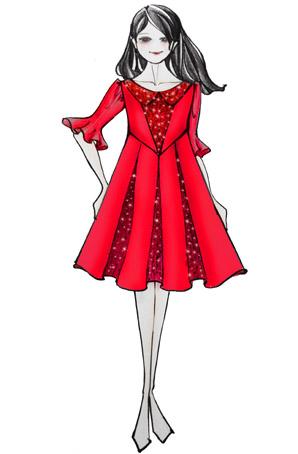 女童演出服装学生大合唱服公主裙儿童合唱服