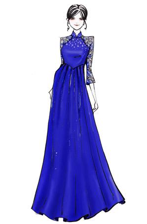 小学生朗诵公主裙表演服装定制款儿童合唱服